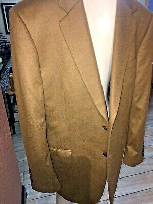 Joseph & Lyman 100% Pure Cashmere Mens Blazer Sport Coat Jacket 40 R Brown