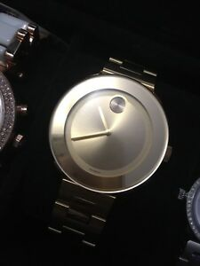 Movado unisex gold watch