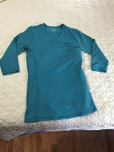 NUROO SIZE M TEAL COLORED BABY WEARING 3/4 SLEEVE NEWBORN POCKET CARRIER TOP