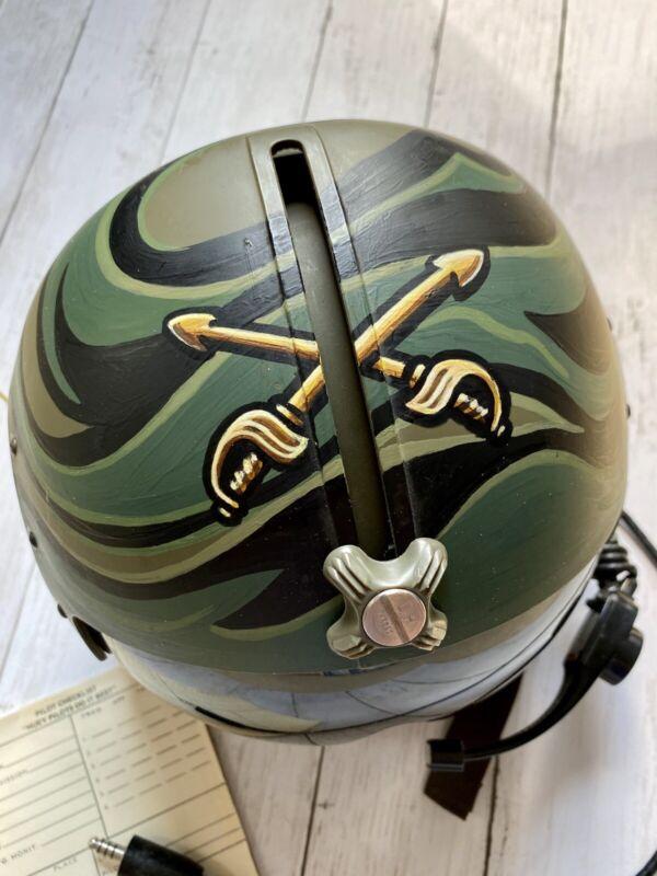 US Military Huey Helicopter Pilot's Helmet Custom Painted W/Troop Logo
