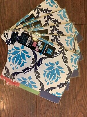 15 Damask File Folders Studio C Blue Pink Green Decorative Office Organization