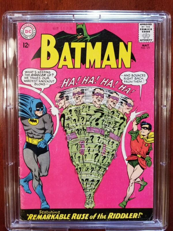 1965 DC Comics BATMAN 171, 1st Silver Age Appearance of the RIDDLER (movie 2021)