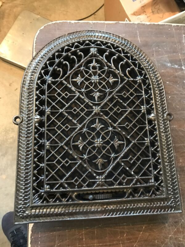 """A6 antique arch top heating grate 11.25 x 14 5/8"""""""