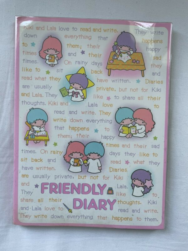 NEW Vintage Little Twin Stars Friendly Diary Sanrio 1976
