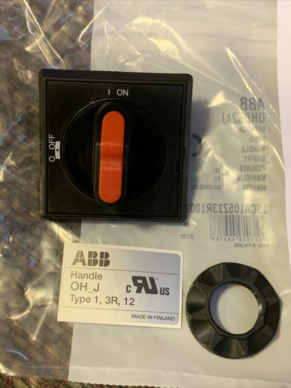 """ABB DISCONNECT HANDLE ROTARY WITH DEFEATER OHBS2AJ, SHAFT SIZE: 0.24"""", IP65"""