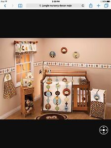 Nojo Jungle Nursery Bedding and Decor