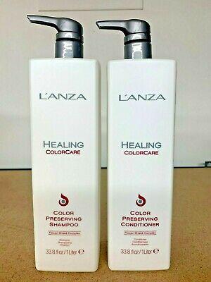 LANZA Healing ColorCare Color Preserving Shampoo & Conditioner 33.8oz LITER -