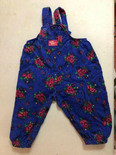 Vintage Oshkosh baby bgosh Floral Corduroy 18 months bubble romper USA Vestbak