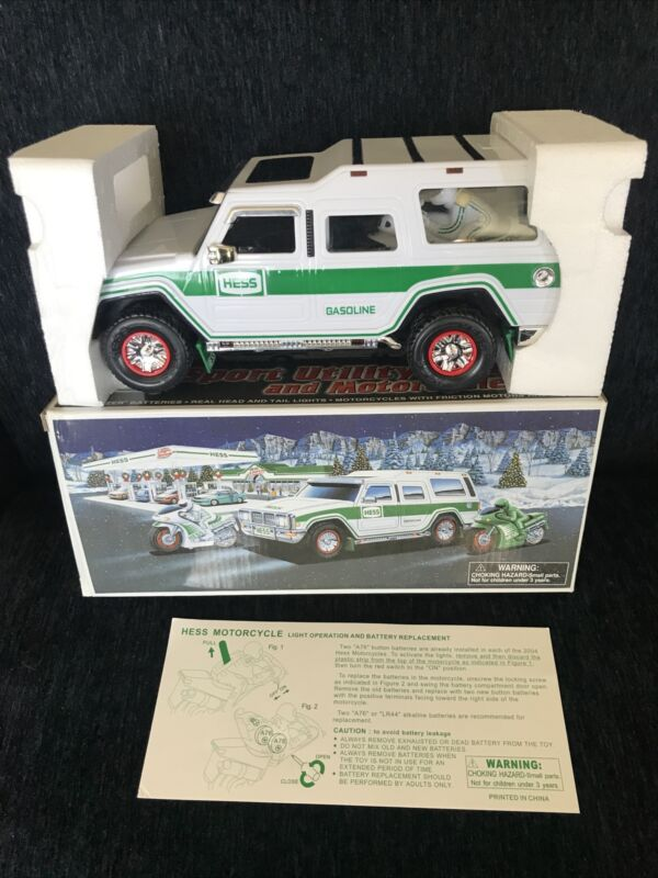 Vintage Hess Sport Utility Vehicle and 2 Motorcycles 2004