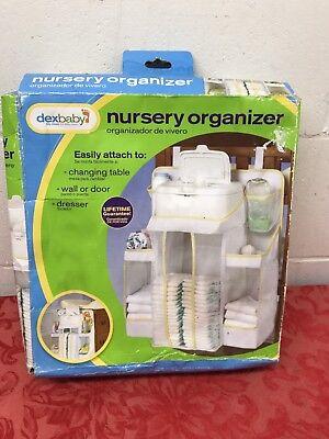 Dex Baby Nursery Organizer, Infant Diaper Stacker, Attach/Hang, New damaged (Dex Organizer)