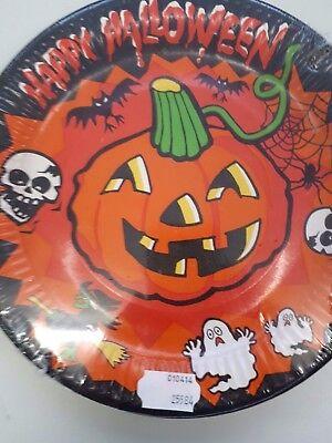 8 Teller Happy Halloween Kürbis Totenköpfe Partygeschirr Pappteller 129057313
