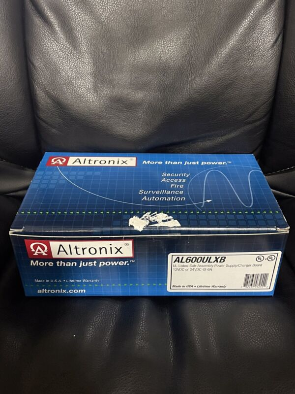 Altronix AL600ULXB (Board Only) 6amps, power supply/charger 12VDC or 24VDC