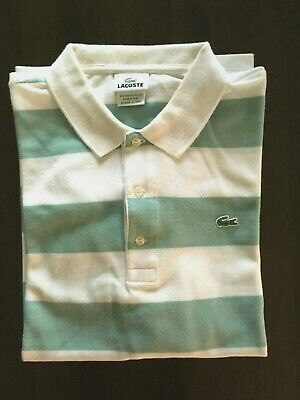 MEN'S LACOSTE S/S POLO SHIRT-100% COTTON-GENTLY WORN-EURO 7-USA XXL