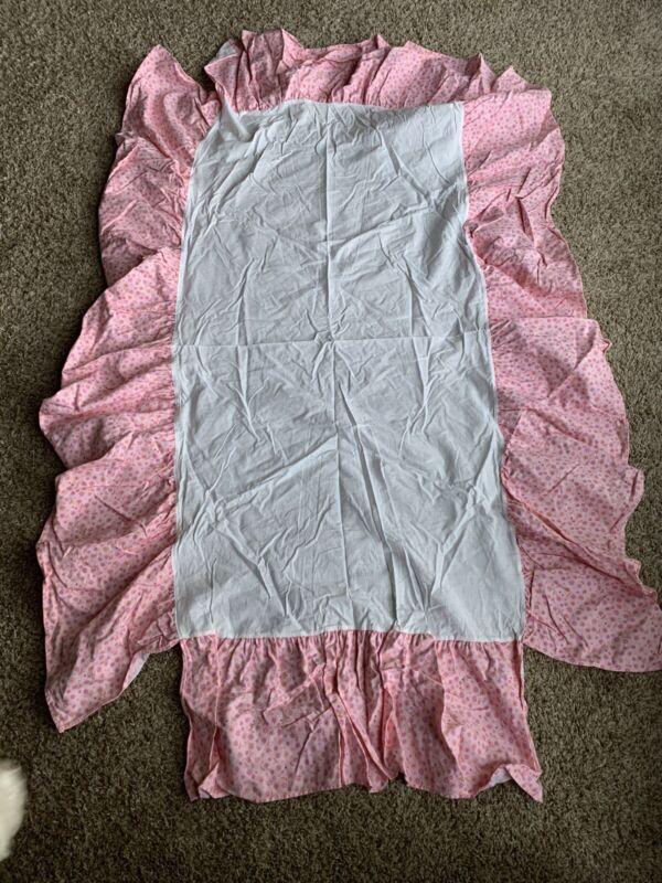 Baby Girl Pink Crib Skirt