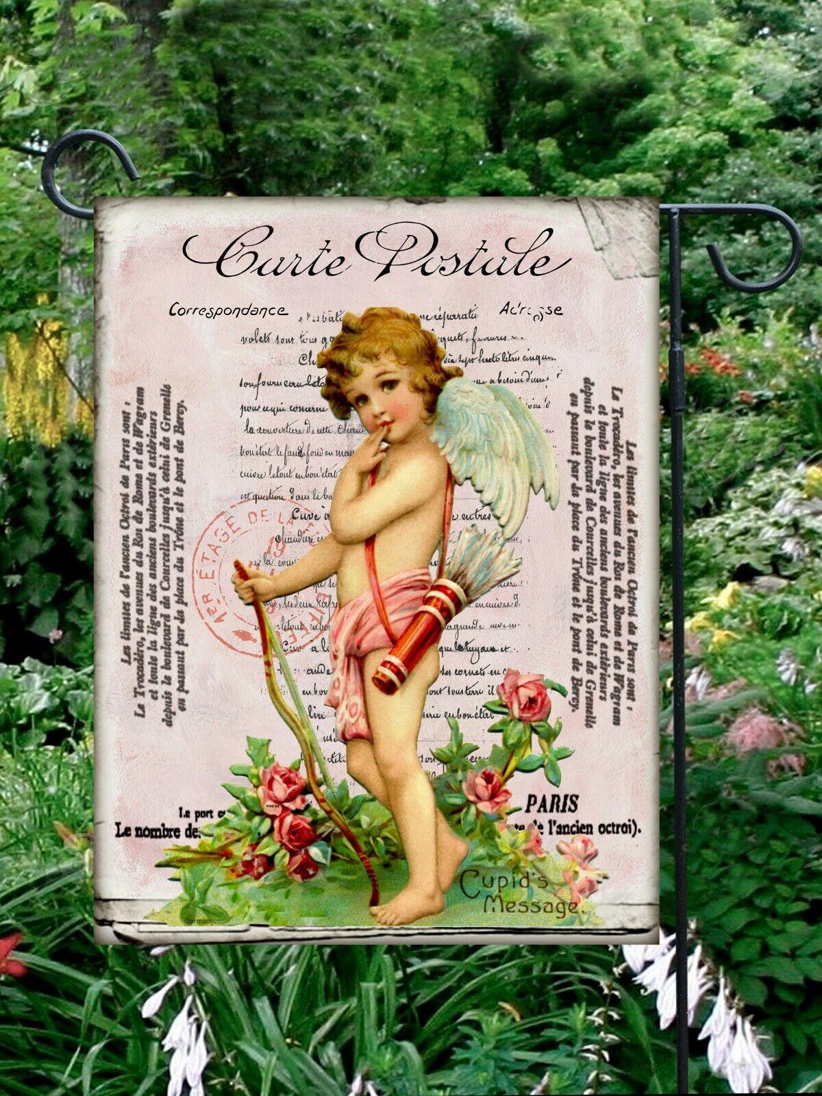 Valentine Cupid  Double Sided Soft Flag  **GARDEN SIZE*   FG