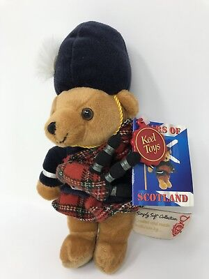 Scottish Piper - Bears of Scotland Simply Soft Collection - Keel Toys - w/ Tags