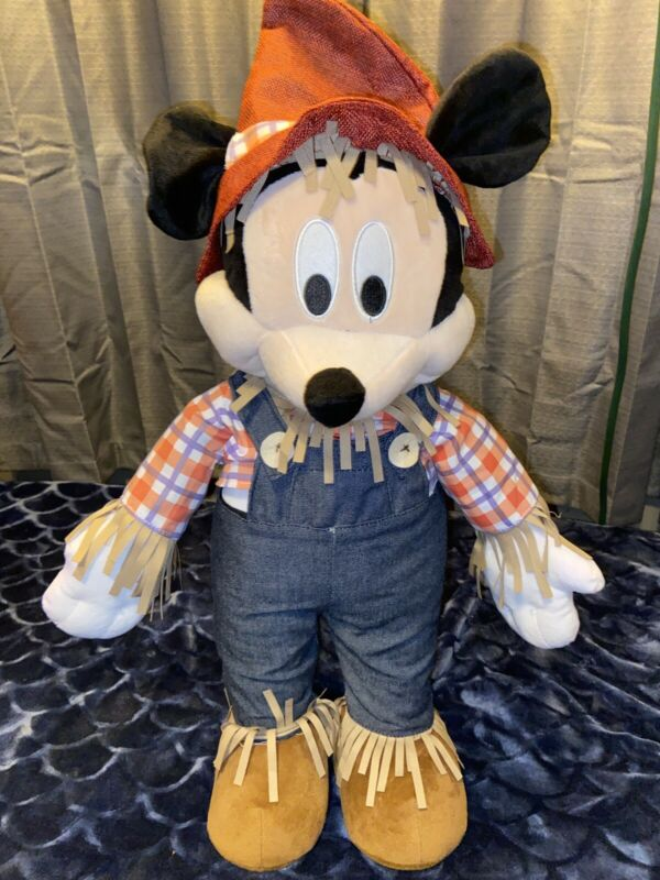 Disney Mickey Mouse Scarecrow Plush Greeter Fall Thanksgiving Discontinued