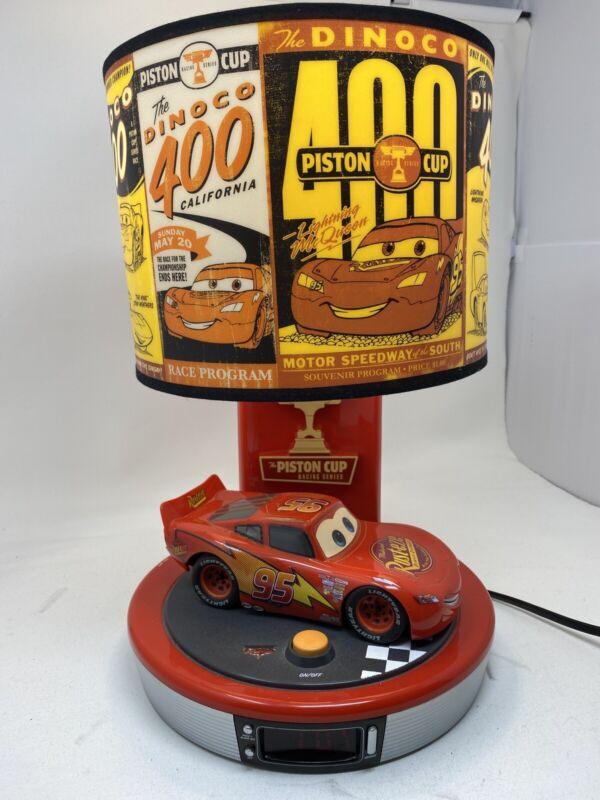 Lightning McQueen Disney Pixar Cars Talking Table Lamp & Digital Alarm Clock
