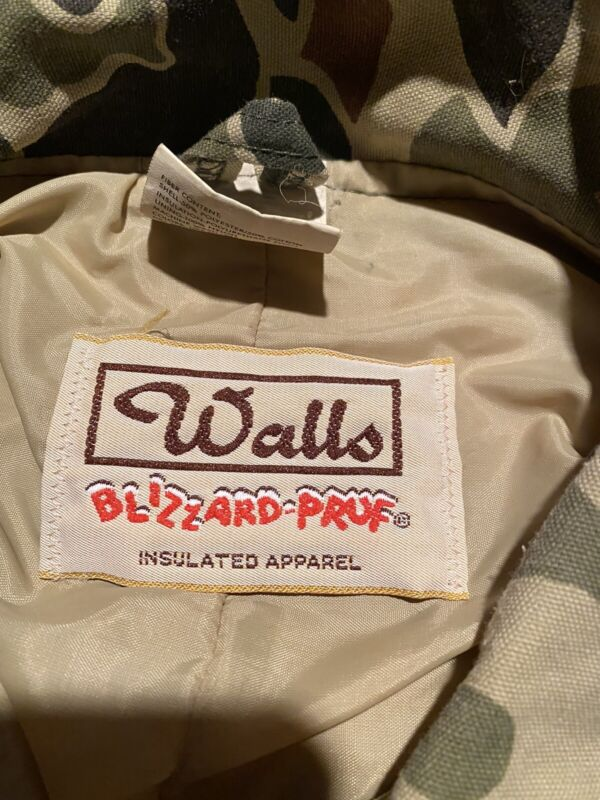 Walls Insulated Camo Coveralls Mens Size Large Tall 42 -44 Chest 33 Inseam