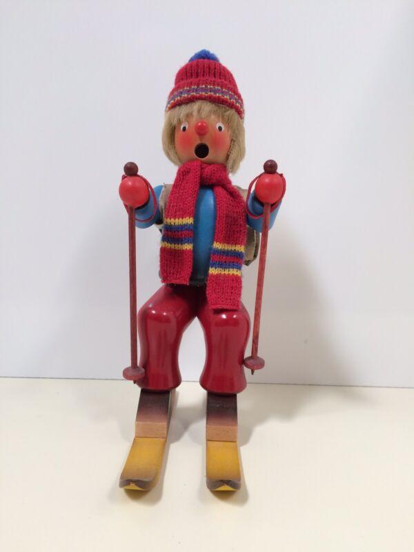 """Holzkunst Ulbricht Smoker Skier 10.5""""Handmade from Germany"""