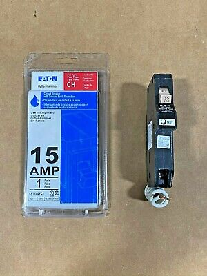 New Cutler Hammer Ch115gf 1 Pole 15 Amp Gfi Ground Fault Breaker Ch115gfcs
