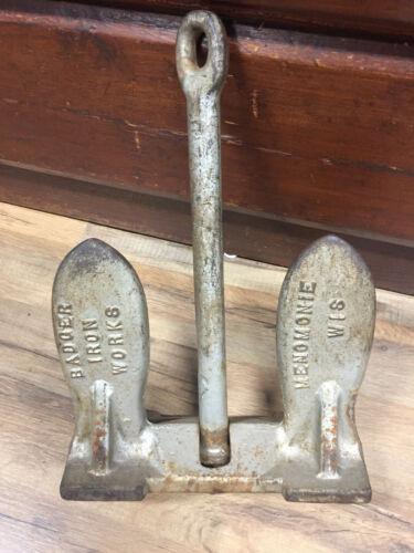 Badger Iron Works, Menomonie, Wisconsin - 25 lb. Vintage Boat Anchor  WI