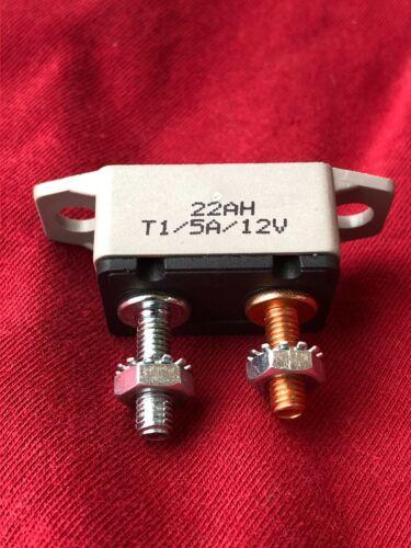 12 volt 5 Amp 22AH T1 CIRCUIT BREAKER fuse Auto reset RV Trailer Automotive new