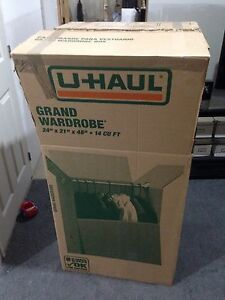 Uhaul hanging garment box