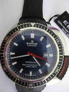 BNIB/UNWORN EDOX HYDROSUB AUTOMATIC GENT'S DIVER'S WATCH Eatons Hill Pine Rivers Area Preview