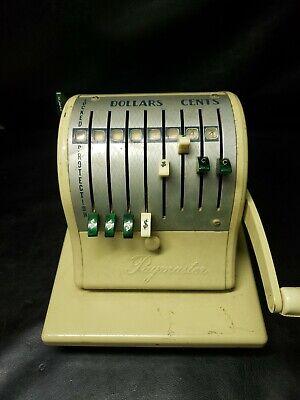 Vintage Paymaster Check Imprinting Machine 8 Column 8m51539 Heavy Metal Decor Xl