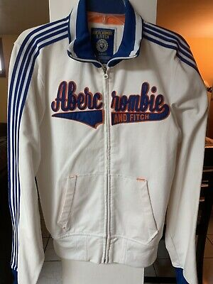 ABERCROMBIE And FITCH Vintage Men's Jacket, White Color , Size Large