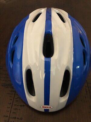 BELL EDGE Youth Helmet Blue White Bike Skateboard Safety