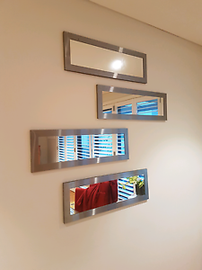 4 silver framed mirrors Pagewood Botany Bay Area Preview