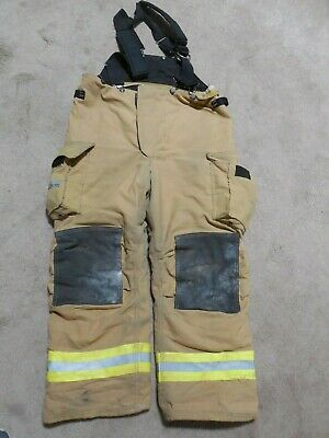42x30 Pants Firefighter Turnout Bunker Fire Gear With Suspenders Fire-dex 409