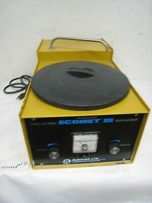 Buehler Ecomet Iii Variable Speed Polisher Grinder 49-1650-160 Tabletop 115v 5a