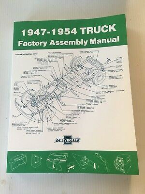 1947   1954 Chevrolet Truck Factory Assembly Manual Chevy Pickups And All Models