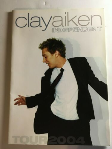 "Clay Aiken ""Independent Tour"" Concert PROGRAM - 2004! American Idol"