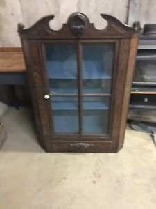 ANTIQUE CURIO WALL CABINET