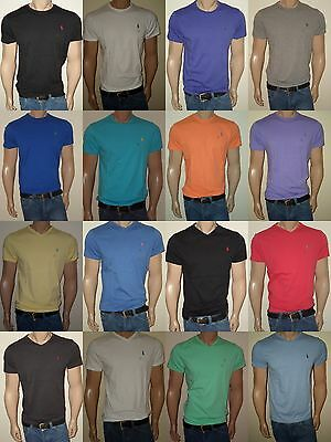 Men Polo Ralph Lauren  T-Shirt Crew Neck and V-neck  S,M,L,XL,XXL STANDARD FIT  Mens Knit Casual Shirt