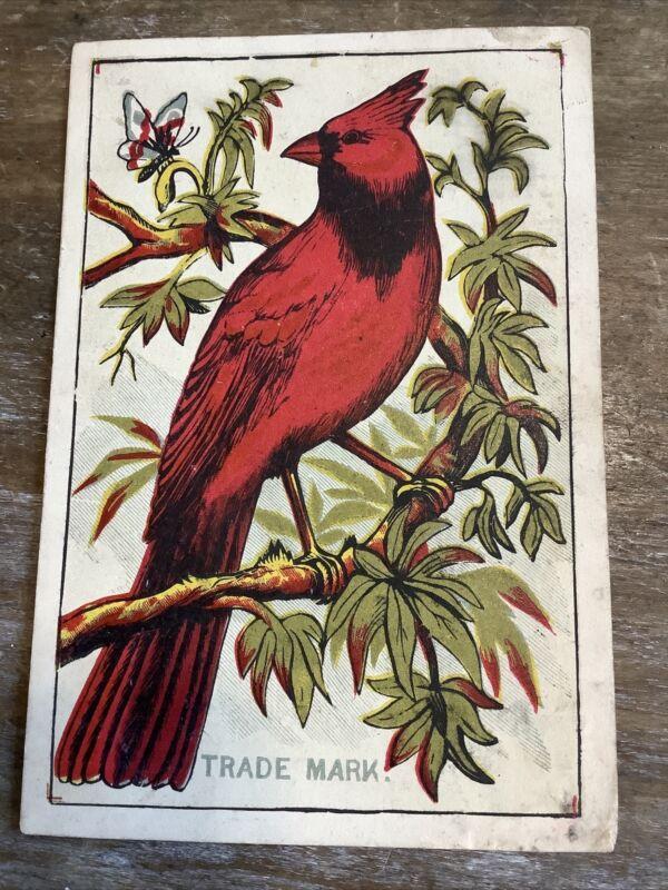 Cardinal Laundry Soap Victorian Vintage Trade Card New York City NY NYC Bird