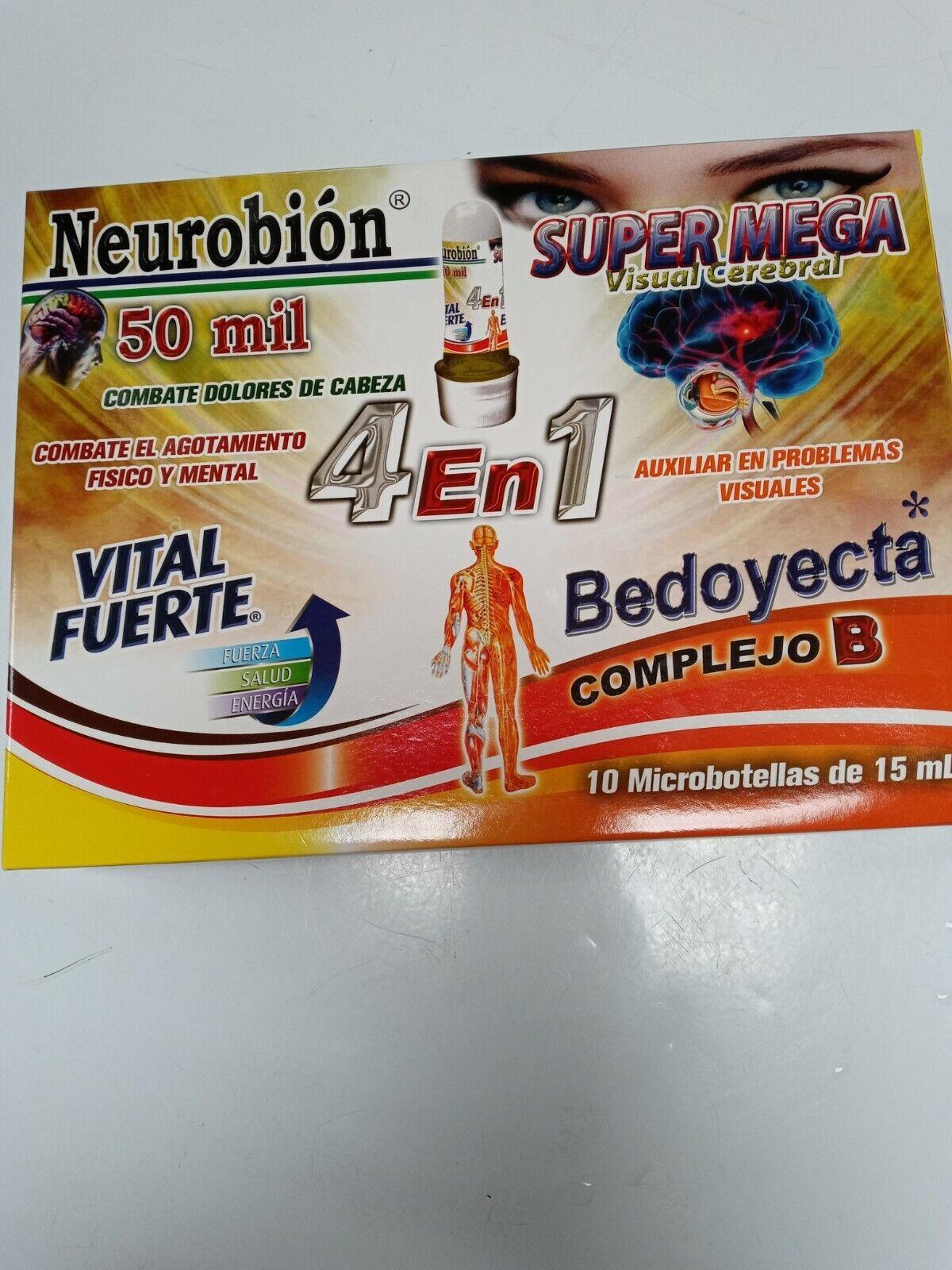 Neurobion 4 en 1 super mega, vital fuerte ,bedoyecta