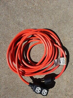 25 Foot Powermate Generator Power Extension Cord 4 Outlets Ss2034650
