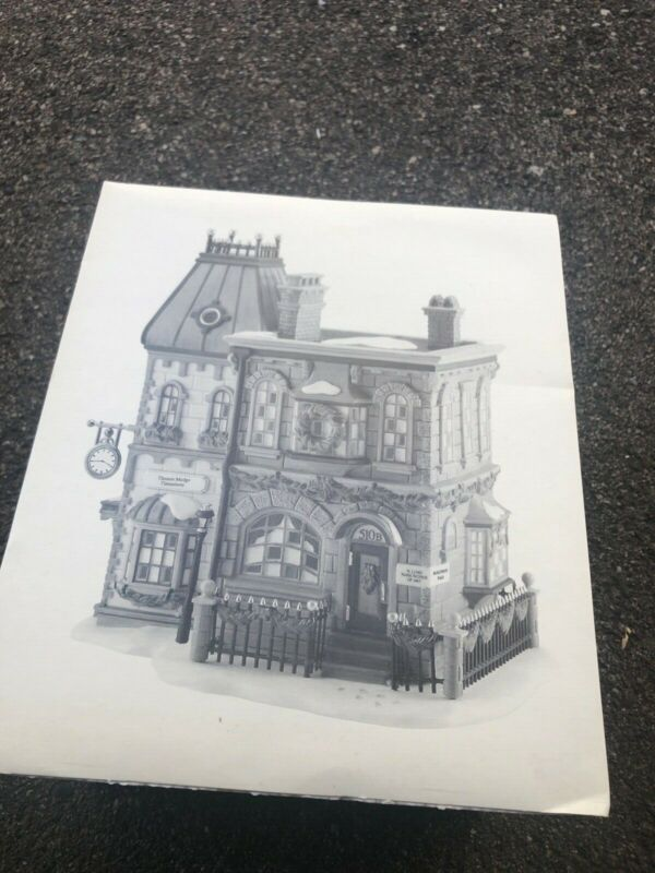 Dept 56 Dickens Village Thomas Mudge Timepieces #58307 NIB