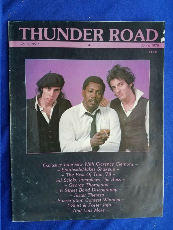 THUNDER ROAD MAGAZINE #1 Vol. 2, Spring 1979, Bruce Springsteen