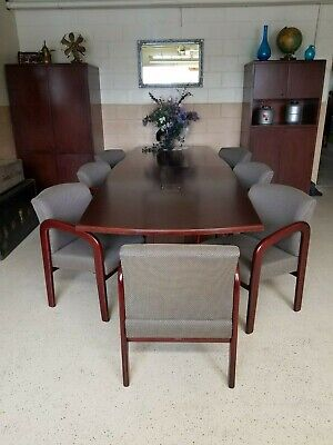 12 Foot Conference Table With Chairs And Cabinets