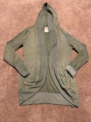 Mossimo Heathered Olive Green Cocoon Athletic Sweatshirt Hooded Cardigan Medium Heathered Olive Green