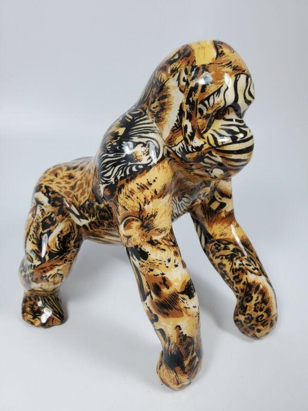 LaVie Gorilla African Safari Statue Collectible Mosaic Print Imperfections