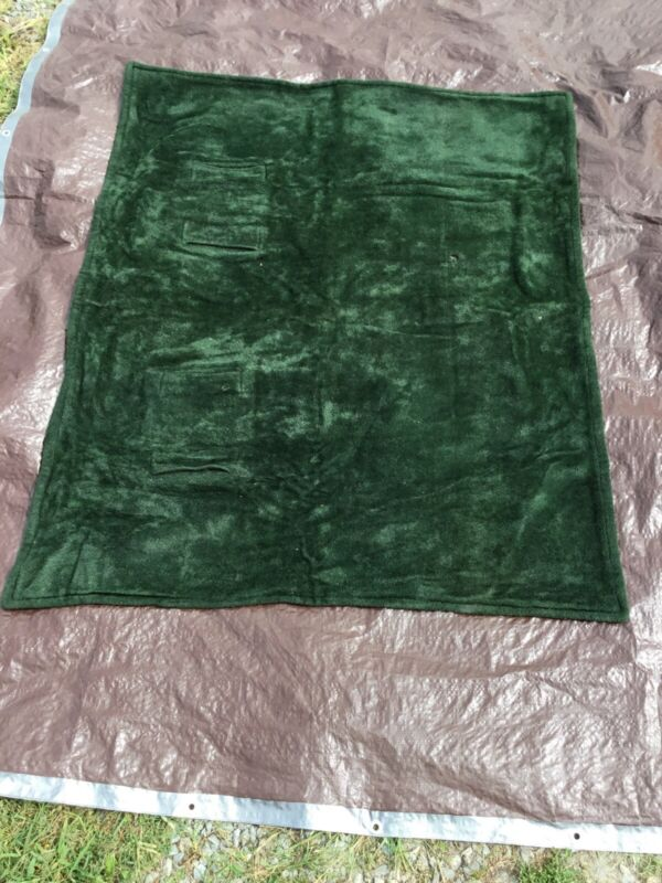 Antique Green Chase Buggy Blanket With 2 Hand Pockets-Mohair-Horschair