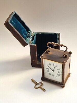 Antique-French 19th Century Ormolu Carriage Clock In Original Box-GWO-c1880's