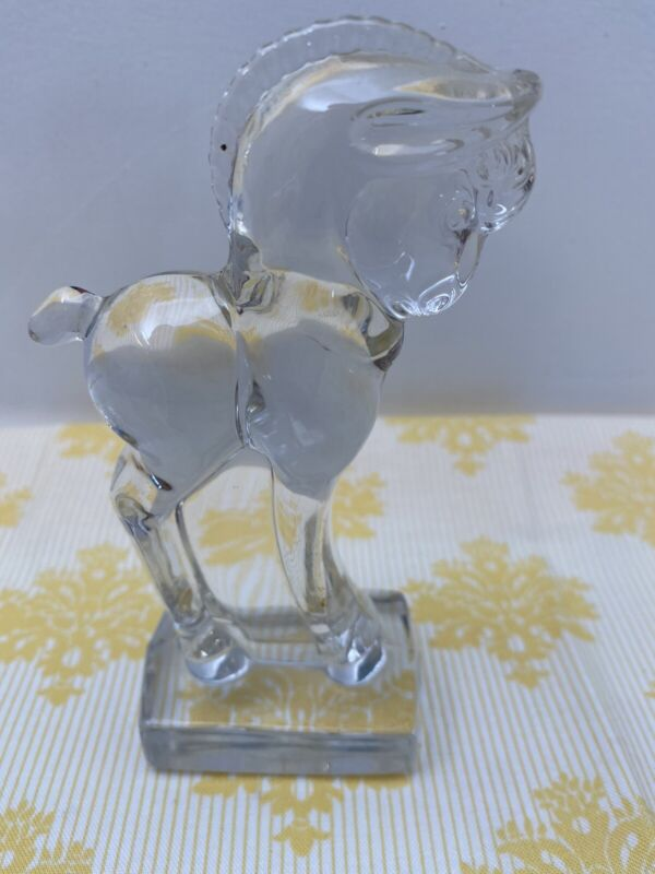 Heisey by Imperial Glass Crystal Standing Colt Pony Horse Figurine